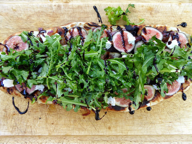 grilled fig flatbread