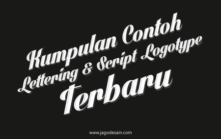 Kumpulan 25+ Contoh Lettering dan Script Logotype