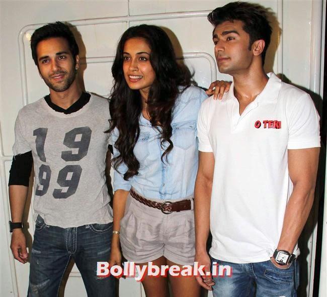 Pulkit Samrat, Sarah Jane Dias and Bilal Amrohi, Sarah Jane Dias, Salman Khan at Screening of O Teri