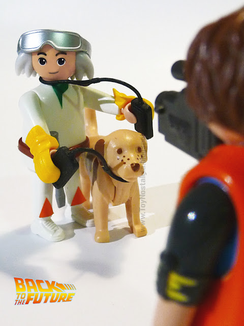 Playmobil Regreso al Futuro Doc Brown Marty McFly y su perro Einstein