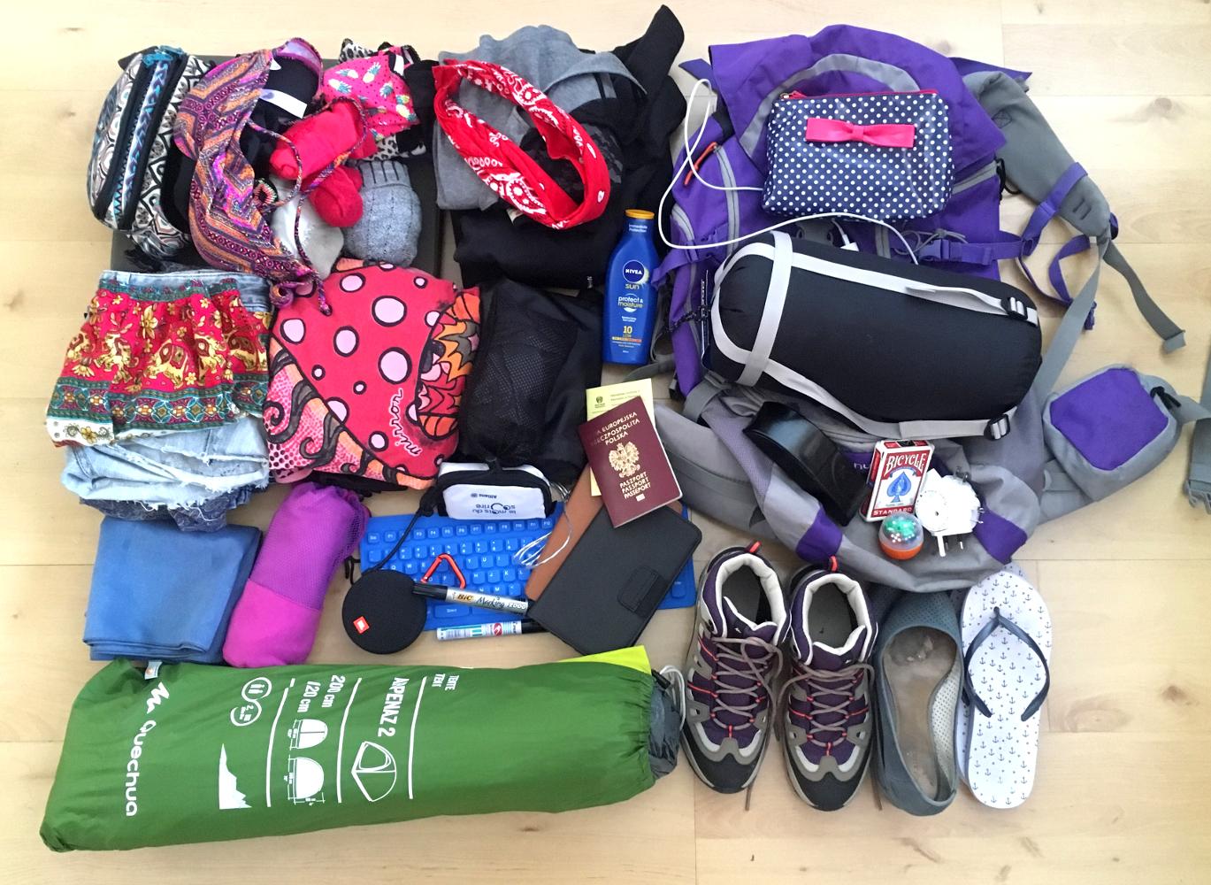moje wywody.: New Zealand packing list