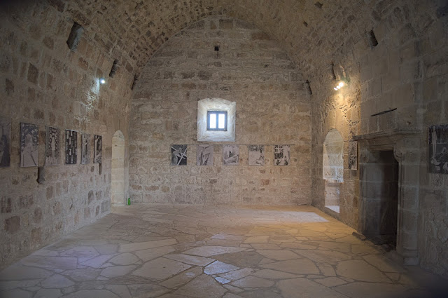 View of the last floor inside the castle, in Kolossi, Cyprus. Each big area had also a fireplace.