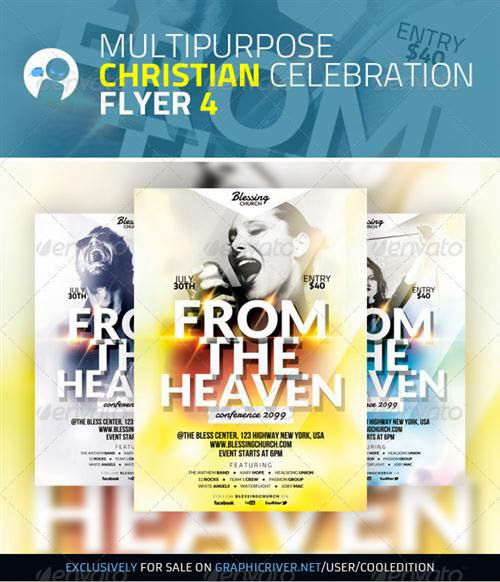 GraphicRiver - Multipurpose Christian Celebration Flyer 4 download