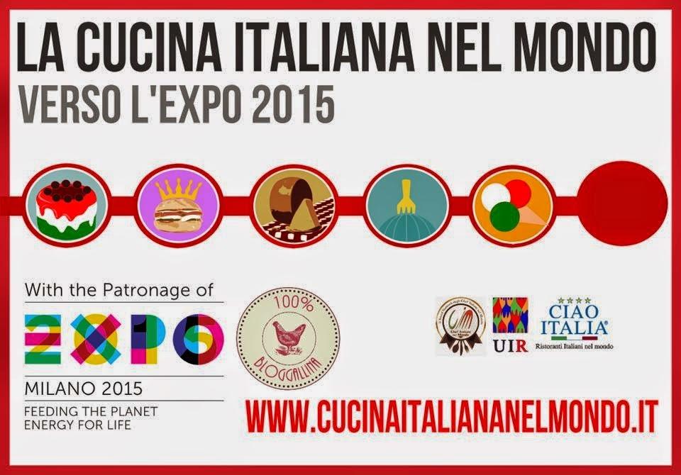 logo La Cucina Italiana nel Mondo verso l'EXPO 2015