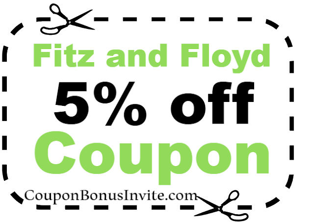 5% off Fitz and Floyd Discount Coupon Code 2018 Jan, Feb, March, April, May, June, July