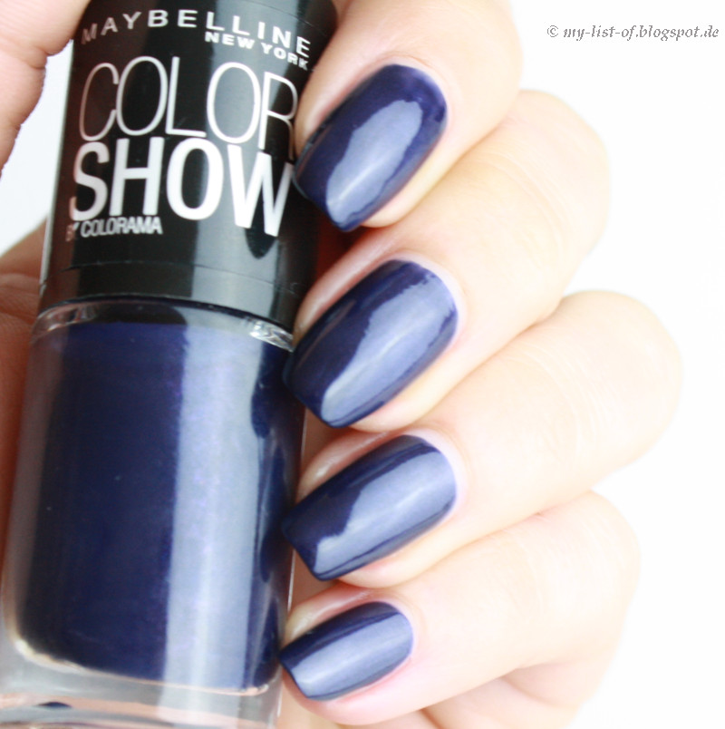 my list of blue friday maybelline color show marinho. Black Bedroom Furniture Sets. Home Design Ideas