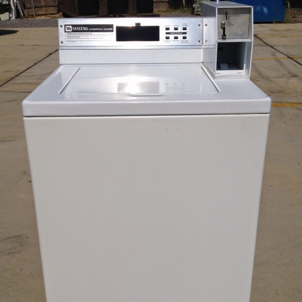 maytag coin operated front load washer