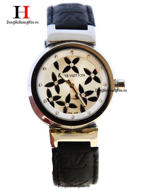 Đồng hồ đeo tay nữ Loui Viutton dây da giá rẻ dưới 2 triệu