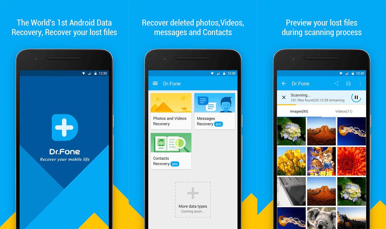 تنزيل تطبيق Drfone الجديد استرجاع المحذوفات في هاتفك بدون روت
