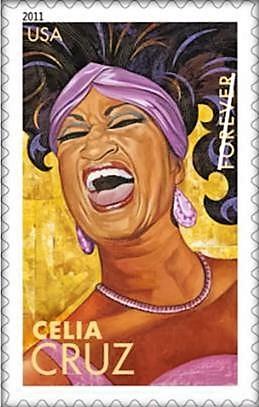 Estampilla postal Celia Cruz
