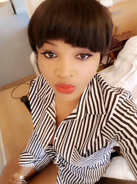 mercy aigbe fight fans