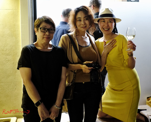 Jackie Hung, Vivienne Shui at Badger & Fox Gallery for the opening of Click!