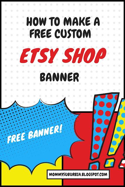 DIY Free Custom Etsy Shop Banner Tutorial
