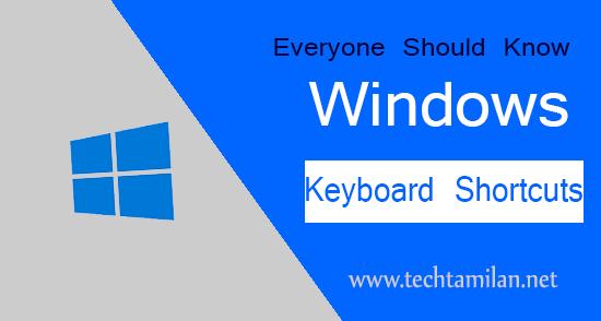 top 10 keyboard shortcut keys