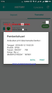 cetak struk via apk topindo printer bluetooth