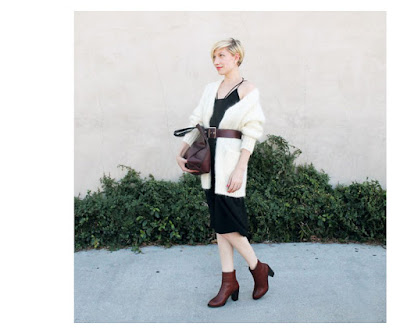 Платье-комбинация с кардиганом