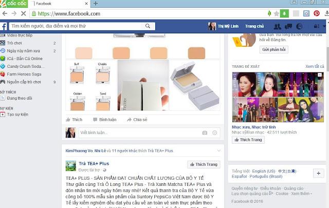 Đăng nhập trang facebook cá nhân