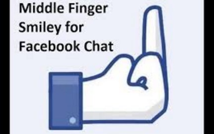 Facebook middle finger emoji