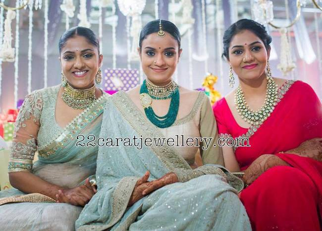 Ashwini Dutt Daughters in Kundan Sets