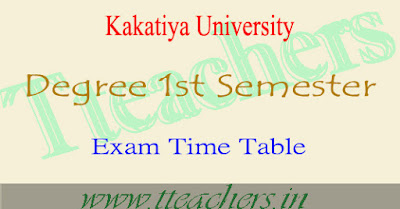 KU degree 1st sem revised timetable 1st year postponed exam dates Dec 2016-2017