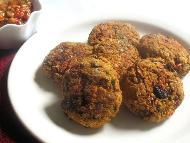 Spicy Red Lentil Patties