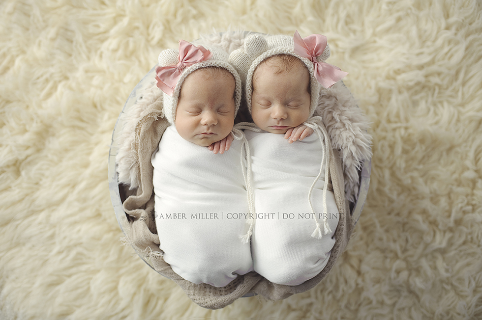 twin newborn portraits in utah