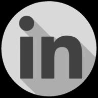 linkedin whiteout icon