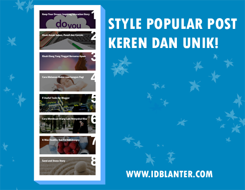 Membuat Widget Popular Post Menarik dan Unik di Blog