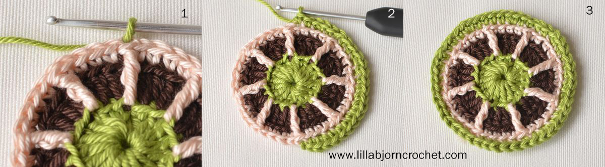 Gift wrapping idea with small crocheted ornament