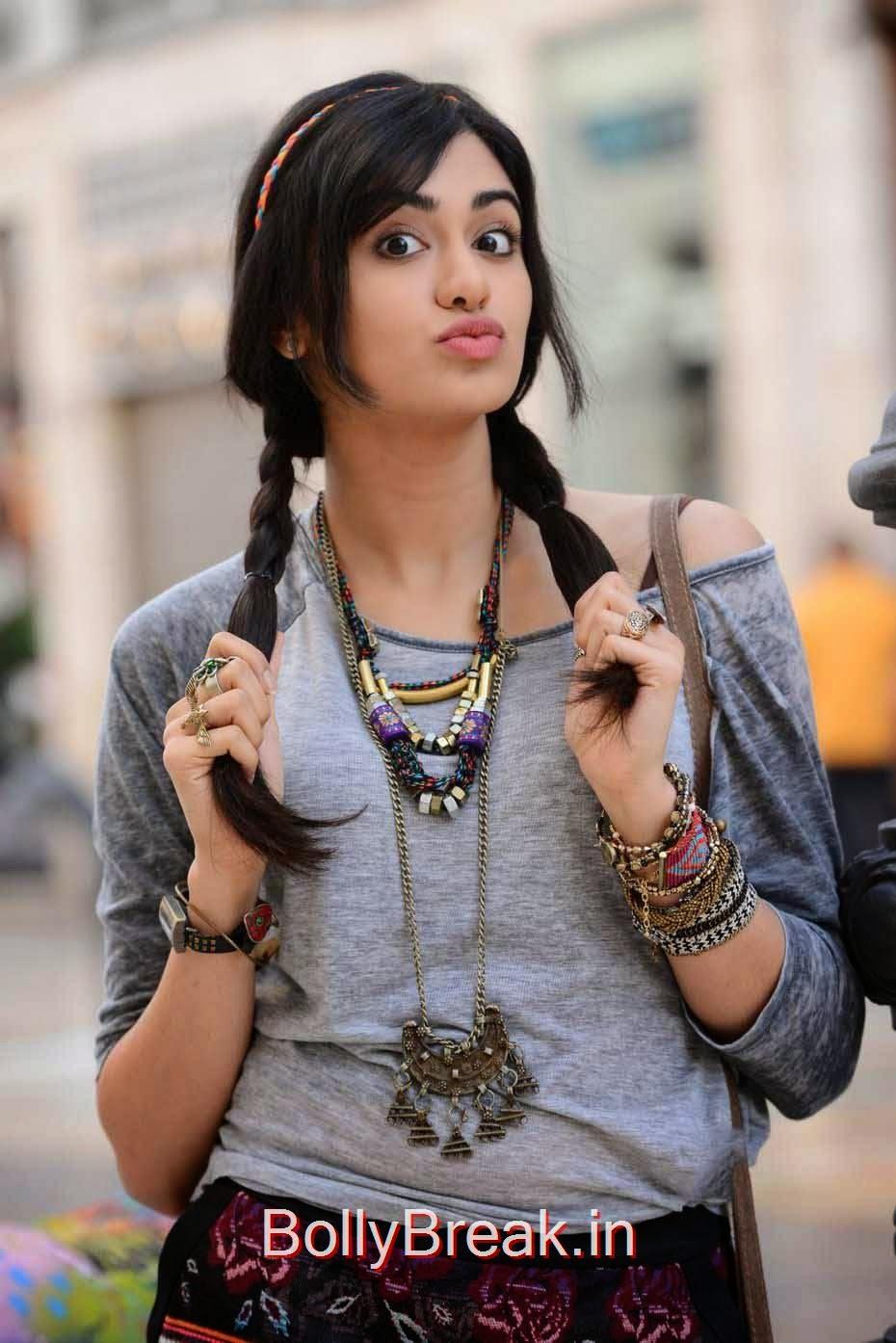 High Quality Adah Sharma Pics, Adah Sharma Hot Pics In Grey and White Top