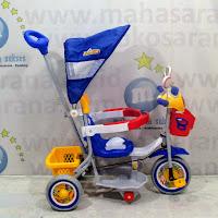family Police musik sepeda roda tiga anak Blue/Yellow