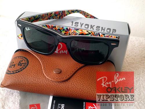 918f37ac7 ... coupon for ray ban wayfarer rare print rb2140 original grade 7a koleksi  kacamata 8bf66 03580
