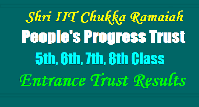 IIT Ramaiah,People's Progress Trust,Entrance Trust 2017 Results download