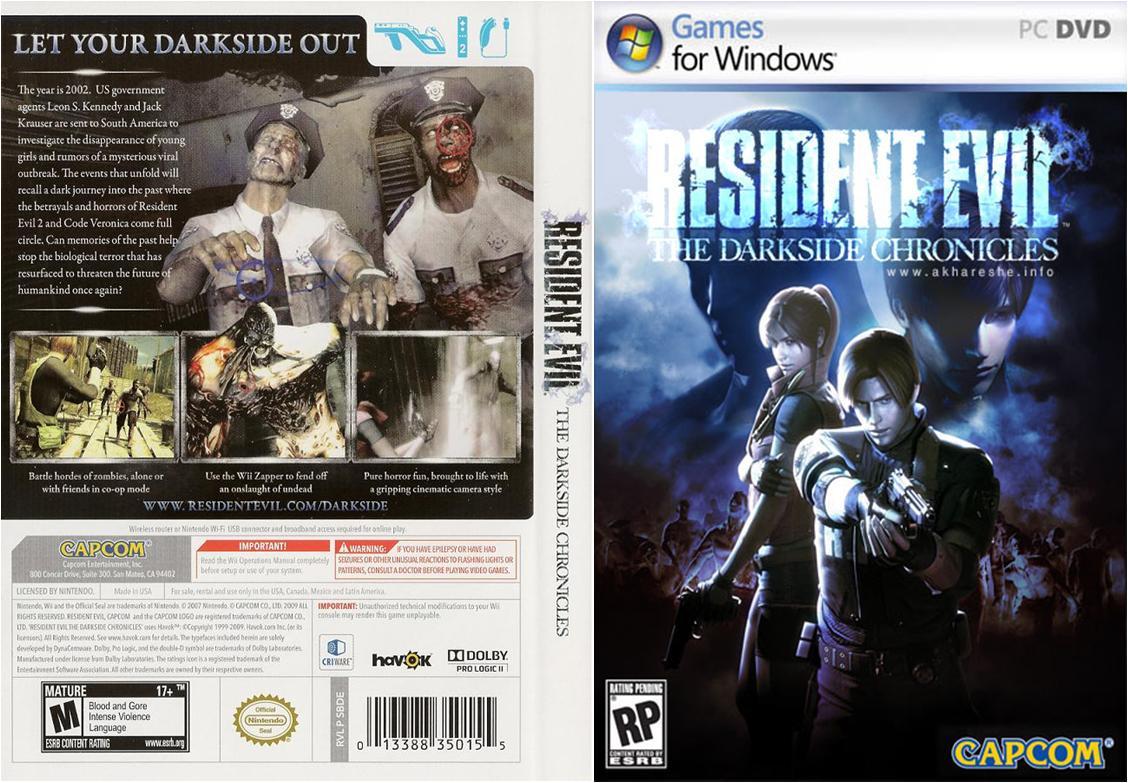 Resident Evil Darkside PC DVD Capa
