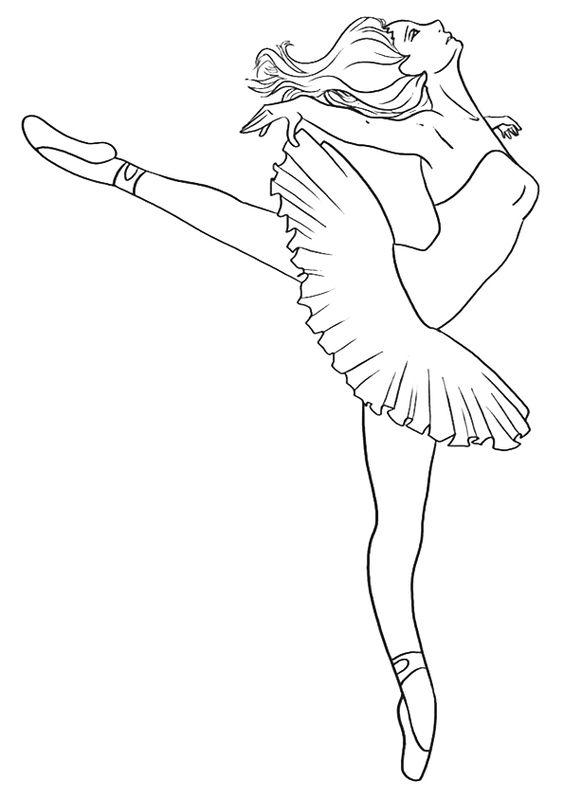 Tranh tô màu dáng người múa bale