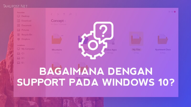 Support pada windows 10