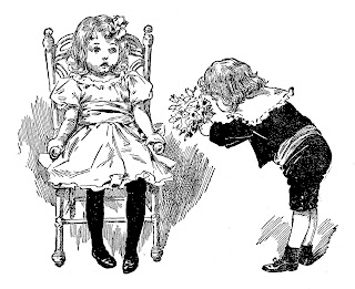 children antique illustration digital download stock