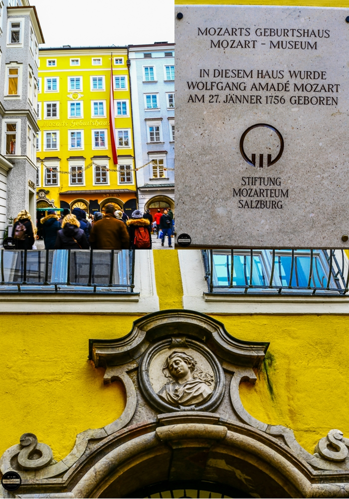 Mozart's birthplace No 9 on the Getreidegasse Salzburg Austria