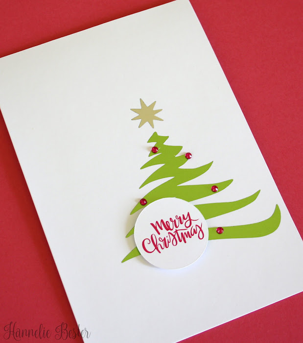 Decofoil Christmas tree card