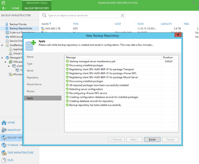 Tutorial: Adicionando um novo repositório de Backup no Veeam Backup and Replication 9.5