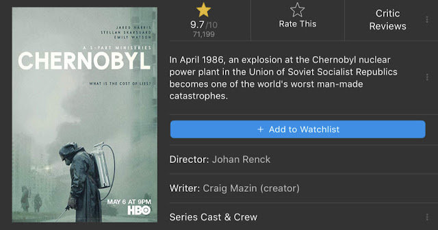 Chernobyl HBO Mini Series 2019