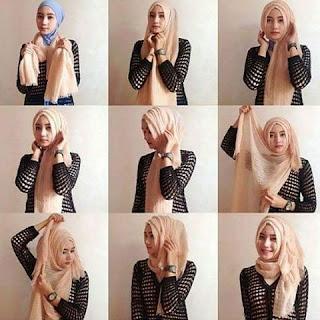 Model Hijab Segiempat