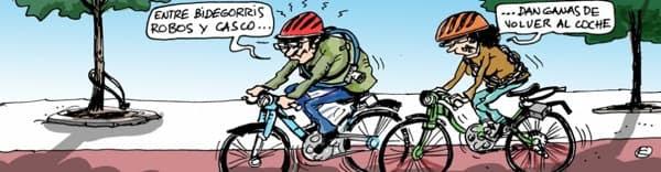El uso del casco será obligatorio para bicicletas