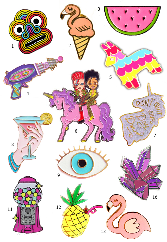pins, trend 2016, the best enamel pins