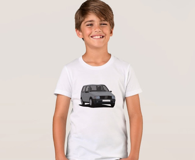 Fiat Uno MK1 T-shirt gray for kids