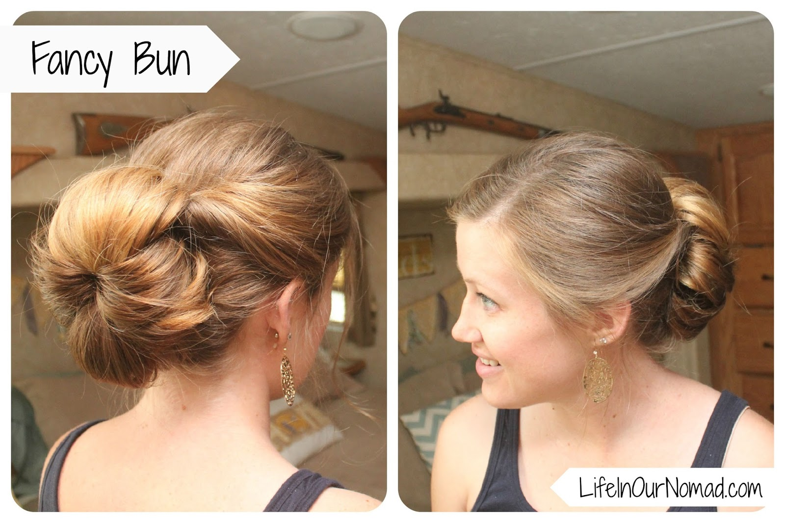 Incredible Glamp Laugh Love Fancy Bun Day 5 Of Hairstyles For Moms Hairstyles For Women Draintrainus