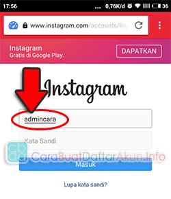 buka instagram lewat browser opera