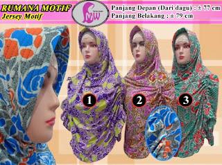 Jilbab instan cantik rumana motif termurah
