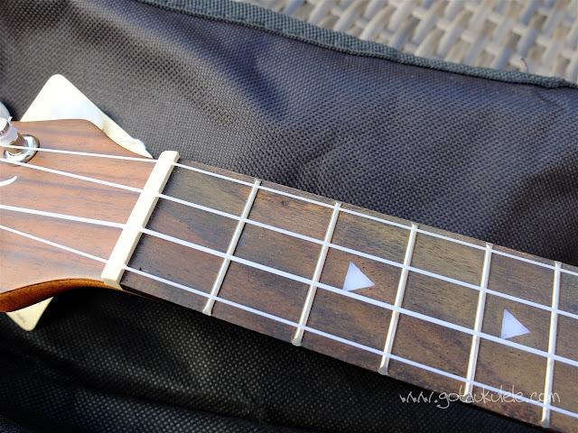 Luna Tattoo Concert Ukulele fingerboard