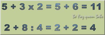 A Hierarquia  das Operações Matemáticas. Na sequência de prioridade, depois da potência e da raiz efetuamos a multiplicação e a divisão.